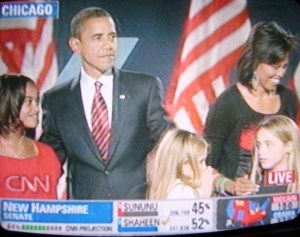 President-Elect Barack Obama with family and relatives of Vice-Preseident Elect Joe Biden